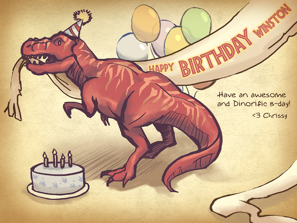 Jurassic T Rex Birthday By ScrawnySquall