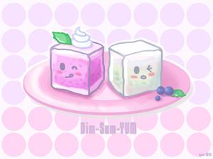 Dim-Sum-YUM: Taro and Coconut by ScrawnySquall