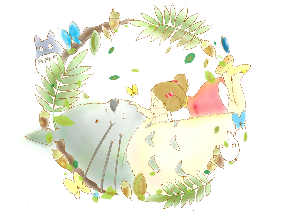 Totoro May: Totoro And Mei By Akinta79 On DeviantArt
