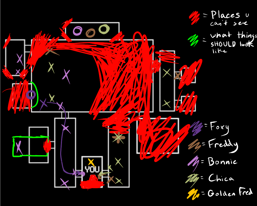 FNAF map by ThatsWhiskyToYou on DeviantArt
