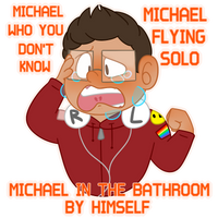 Michael In The Bathroom by ThatsWhiskyToYou