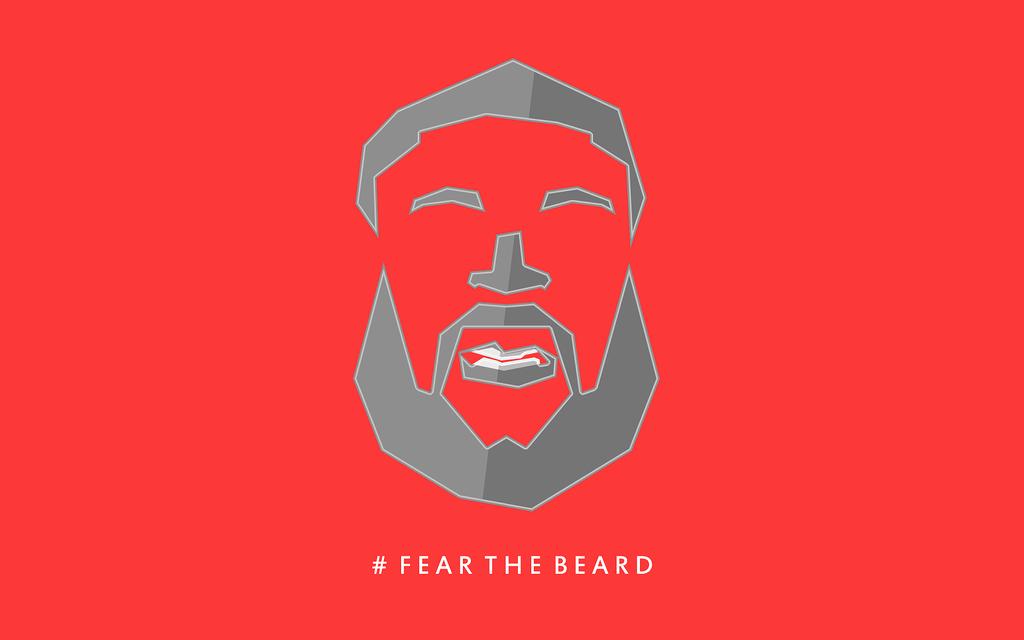 James harden fear the beard logo - photo#53
