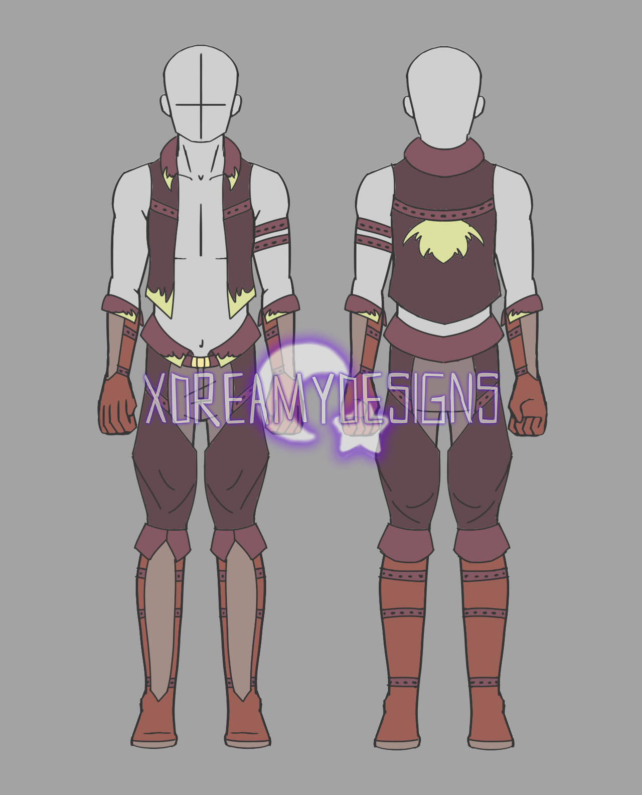 Clothing Auction Male Fantasy Outfit 2 (CLOSED) by xDreamyDesigns on DeviantArt