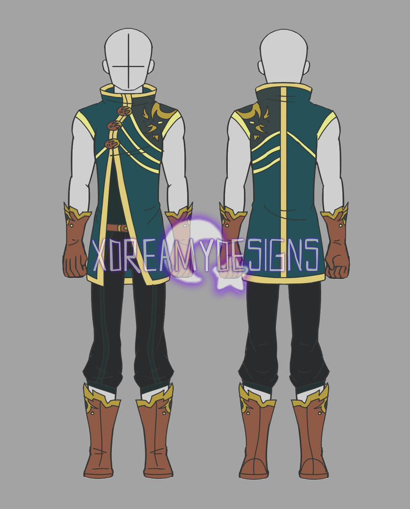 Clothing Auction Male Fantasy Outfit 3 (CLOSED) by xDreamyDesigns on DeviantArt