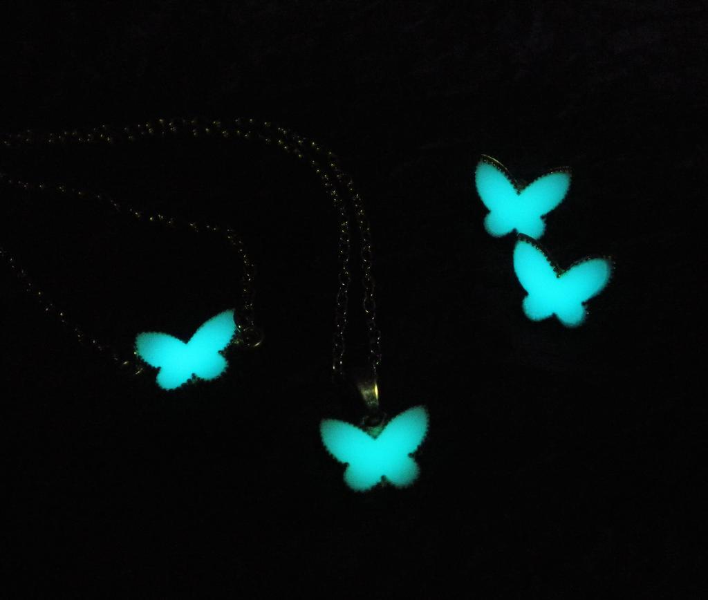 Glow Butterfly Jewelry Set - Glow in the Dark by