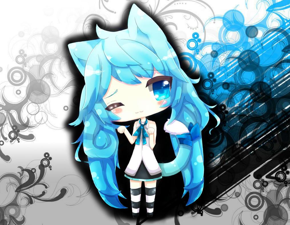 Hatsune Miku Neko Chibi by XxRedReaperxX on DeviantArt