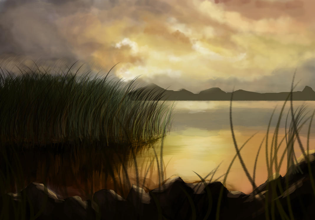 Windy Lake Speedpaint by IoCasius