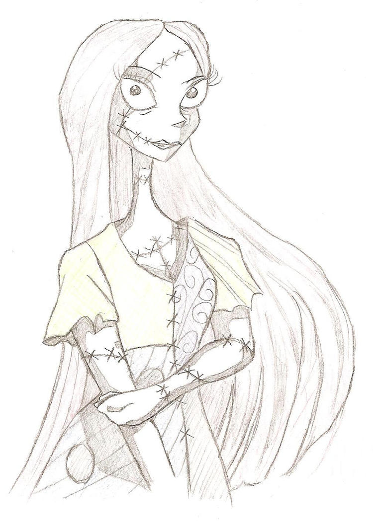 Sally Nightmare Before Christmas Face Drawing 54603 | ENEWS