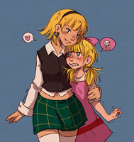 sisterly bonding by MerryMarmalade