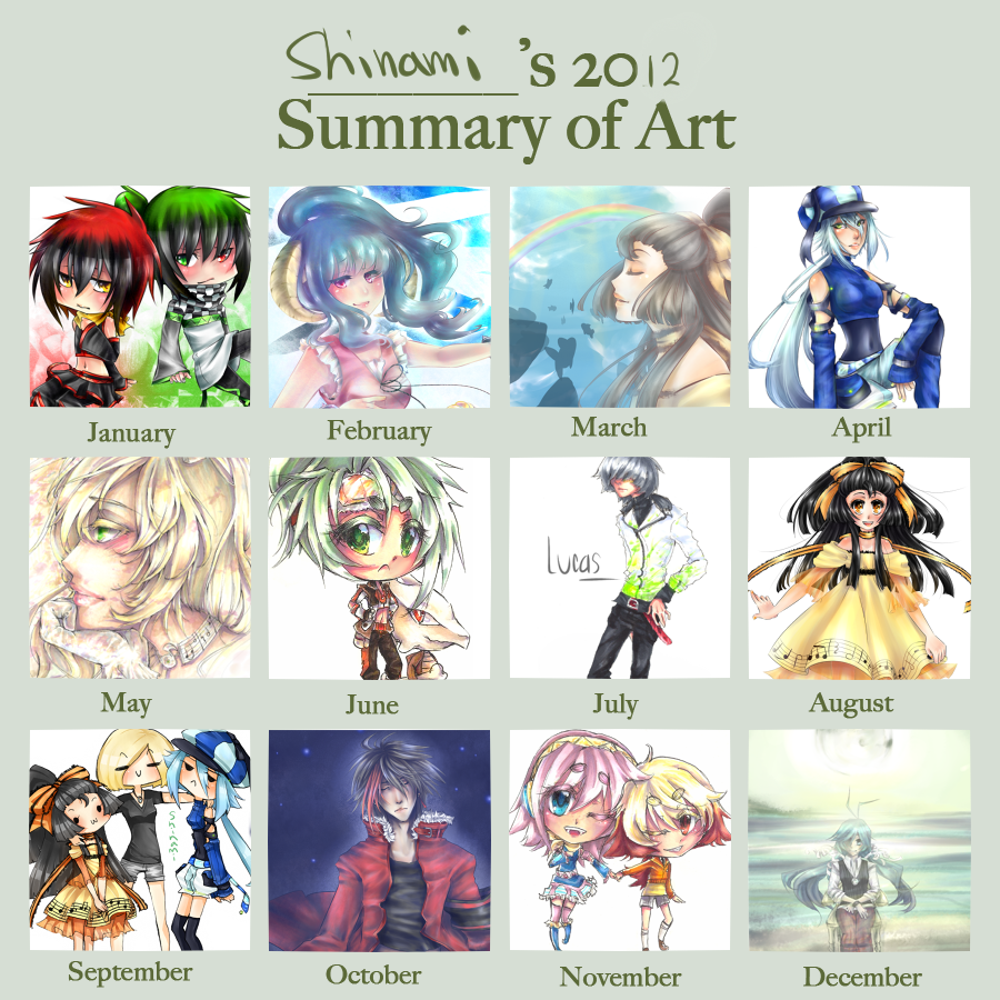 Shinami's 2012 Art Summary by shinamiEBA