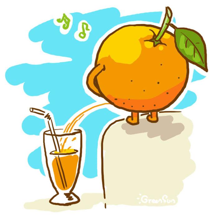 orange juice by GreenSun2012