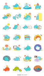 Summer Whale Stickers