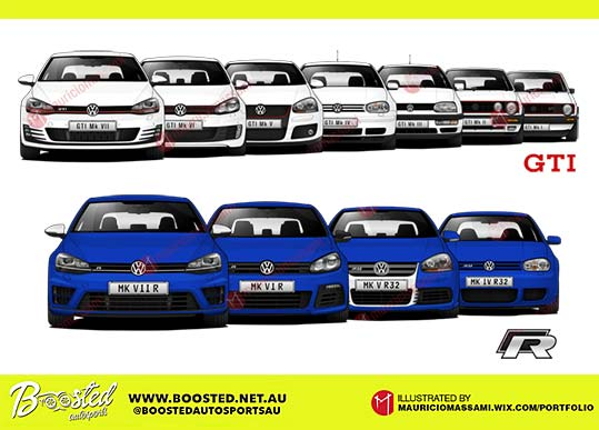Vw Golf Gti And R Generations By Mauriciomassami On Deviantart