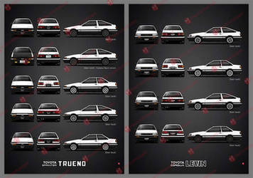 AE86 - Sprinter Trueno and Corolla Levin