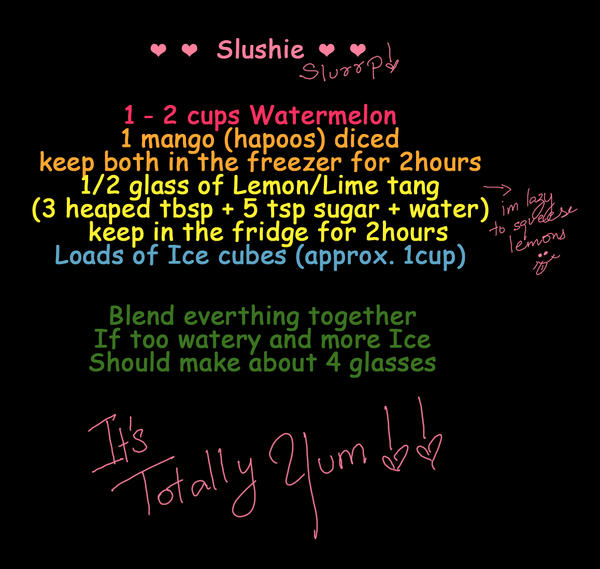 Watermelon-Lemon-Mango Slushie by quirkypink
