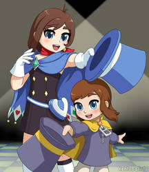 Trucy Wright and Hat Kid