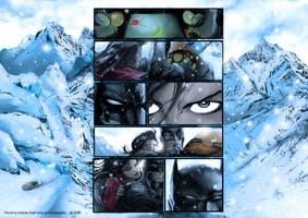 Bat in snow by adhytcadelic