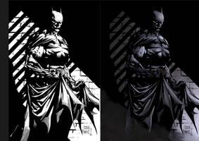 Dark Knight coloring sample by adhytcadelic