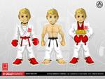 D-Dojo Karate Mascot by adhytcadelic