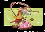 Master Splinter and KRANG by adhytcadelic