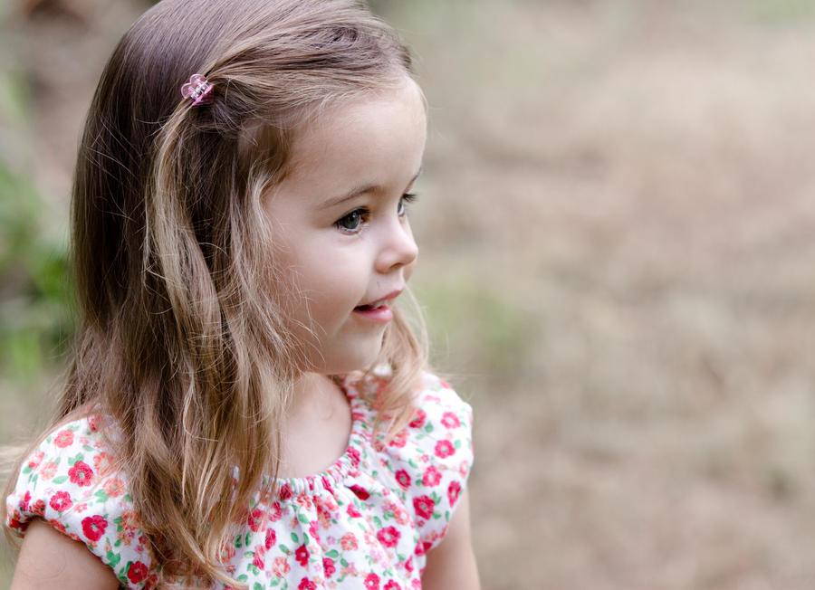 portrait of happy little girl by Bodhichita