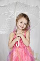 Girl with white umbrella by Bodhichita