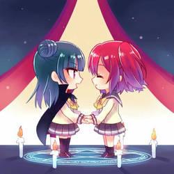 who ships ruby x Yoshiko (yoshiruby) by AqoursLovelive