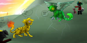 Pokemon battle..sorta