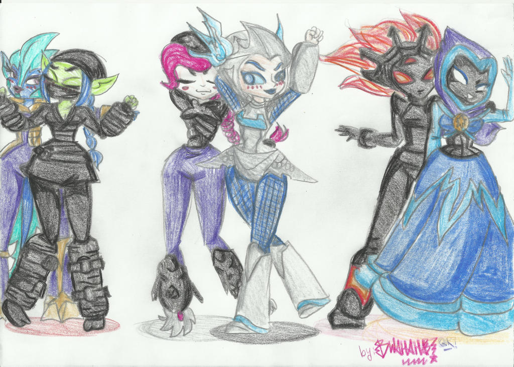 Six Skyladies by vivuz