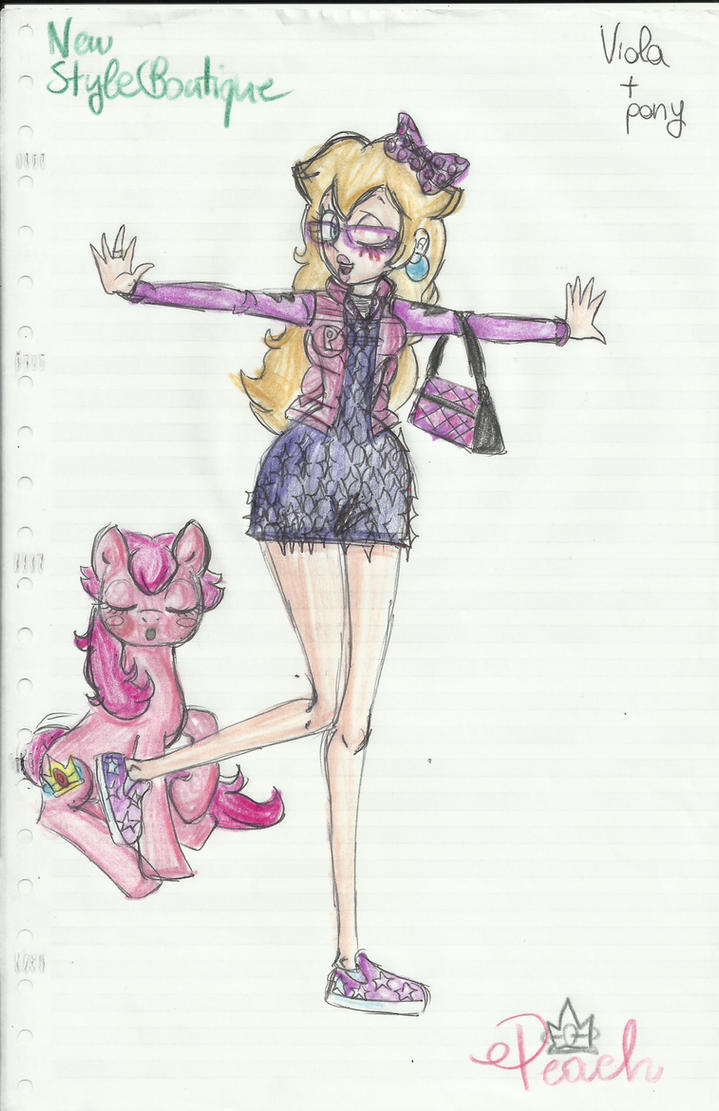 Peach - Purple+Pony by vivuz