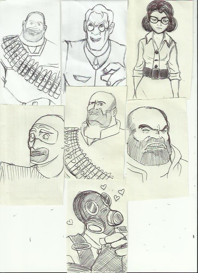 TF2: Sketches 2 by vivuz