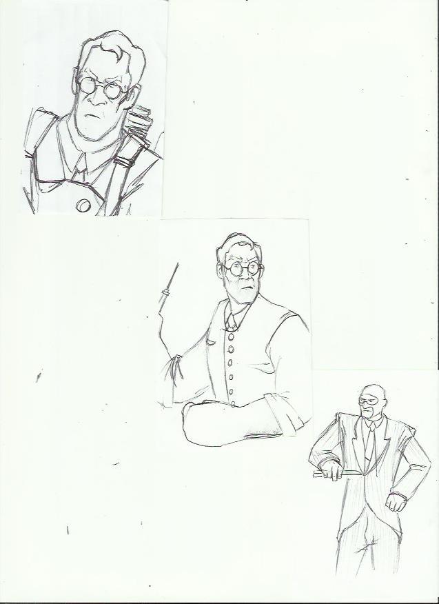 TF2: Sketches 3 by vivuz