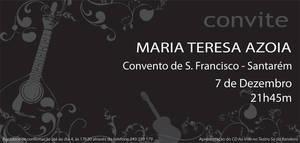 Convite Maria Teresa Azoia