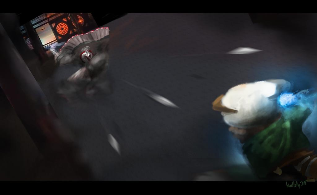 Shifu vs Shen by Kudlaty25