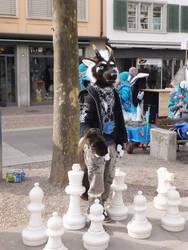 Playing Chess by MrMyOwnArt