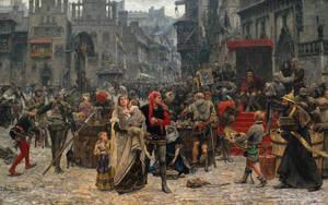 Valdemar Atterdag holding Visby to ransom