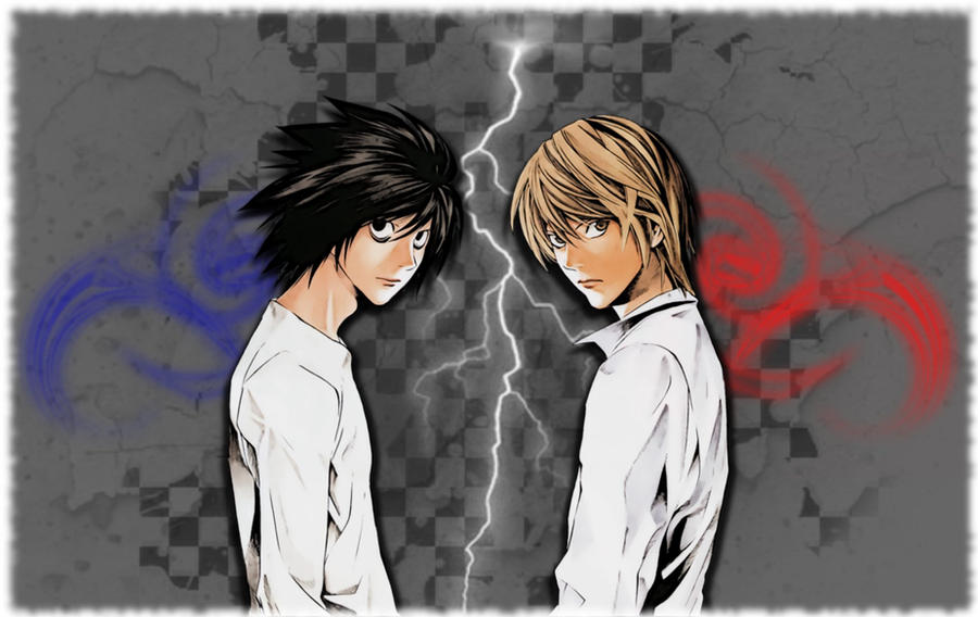 L And Light Wallpaper L Lawliet and Light