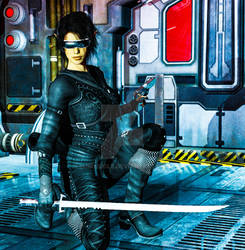 Cyberpunk Infiltrator by IanRLiddle