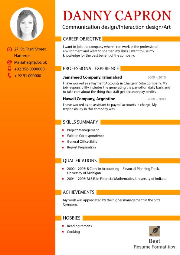 best resume style 2016