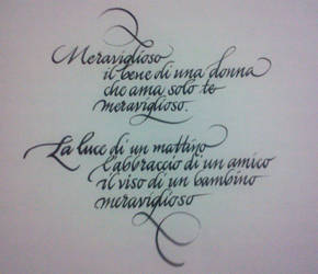 Meraviglioso by DeRupe