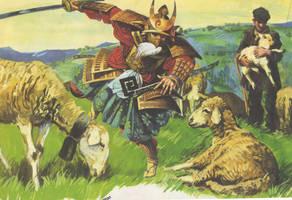 THE SAMURAI AMONG THE SHEEP by artpirate666