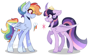 Twilight Sparkle and Rainbow Dash Headcanons by JxstMargaret