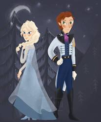 Hans + Elsa by asootsprite
