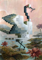 'Menagerie' Series: Crane by Biffno