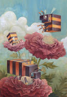 'Menagerie' Series: Bees by Biffno