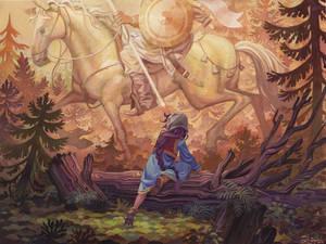 Vasilisa encounters the White Horseman