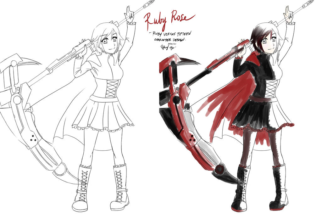 Ruby Rose Character Design by nikkaSkye