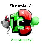Shadowtails 13th Anniversay logo by ShadowtailsDerol