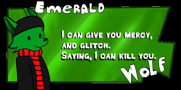 Emerald Wolf - Request Button by ShadowtailsDerol