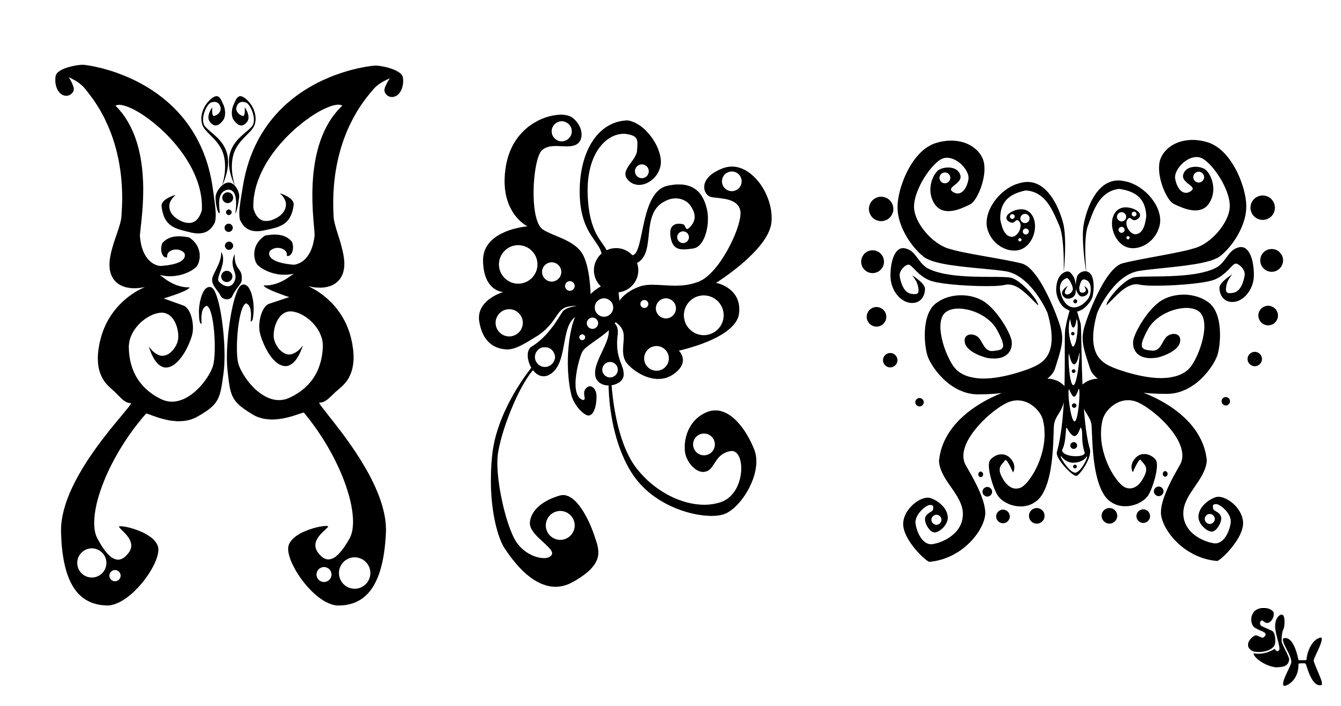 Butterfly Tattoos By Darkly Shaded Shadow On Deviantart